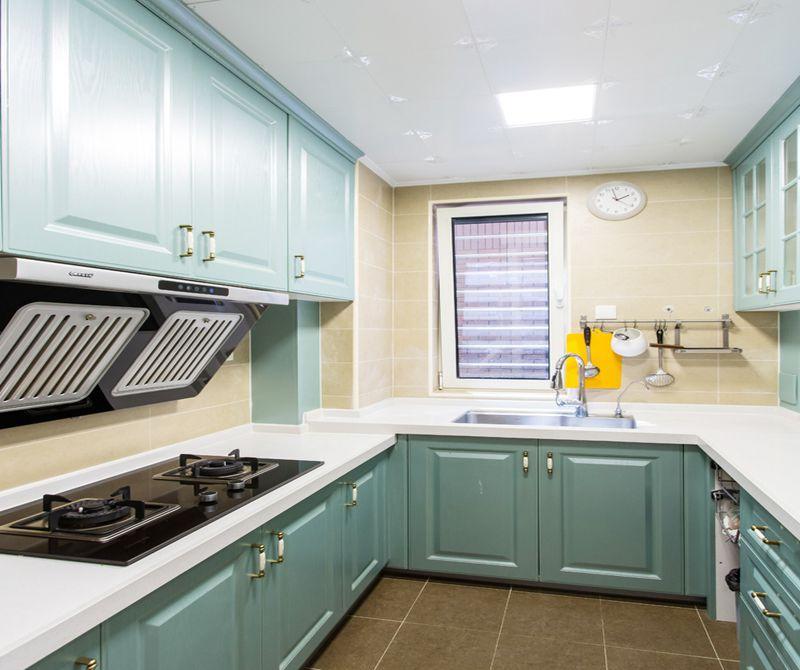 嘉园-二居室-88.00平米-厨房装修效果图-6套小户型混搭风装修案例 高清图片