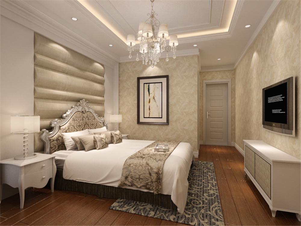 北京天房郦堂简欧风格三居室装修效果图_130平米5万-.图片
