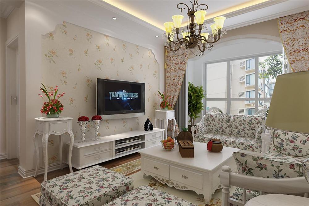 三套两室两厅装修效果图 田园 简欧 中式应有尽有图片