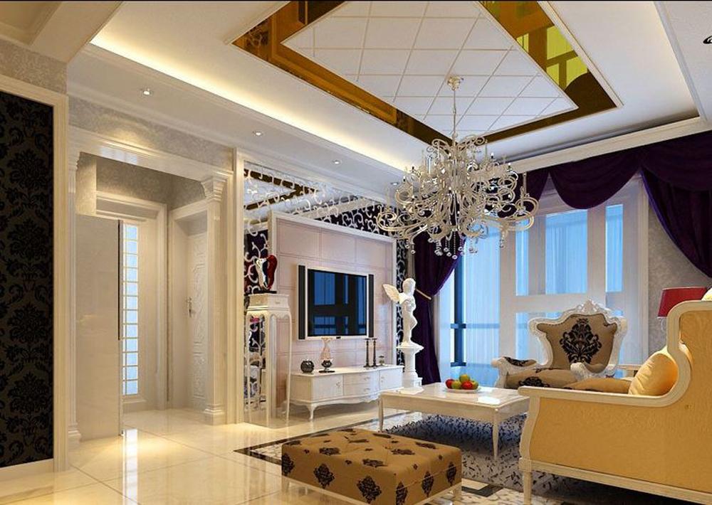北京金侨公园壹号简欧风格二居室装修效果图_80平米2图片