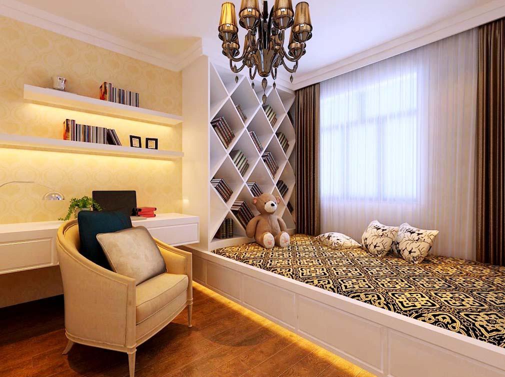 简欧风格三居室装修效果图120平米3.99万简欧风格三-.图片