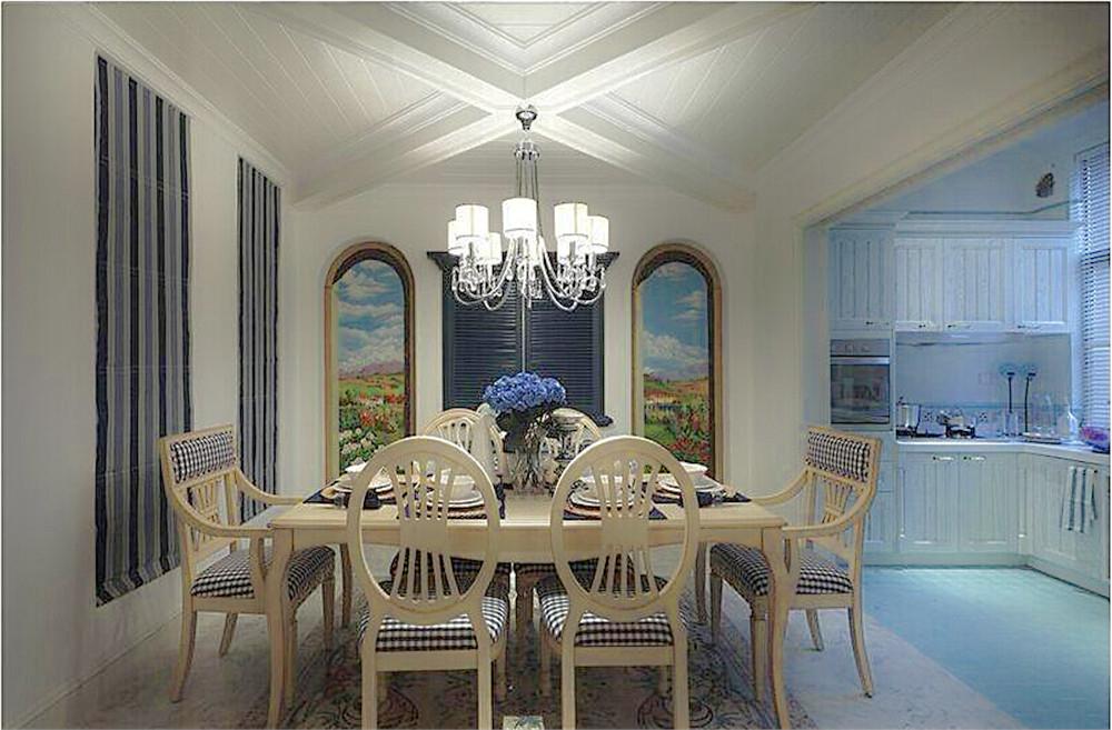 天房彩郡二期-二居室-88.00平米-餐厅装修效果图-45款最新客厅电视背高清图片