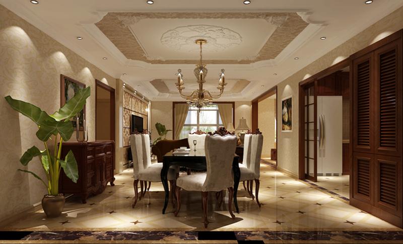 选材方面,除了欧式惯用的白色材质外,还用了玻璃、镜子等现代材料,大大提升了原质感的对比效果,在表现尊贵的同时还增添了几分现代感。