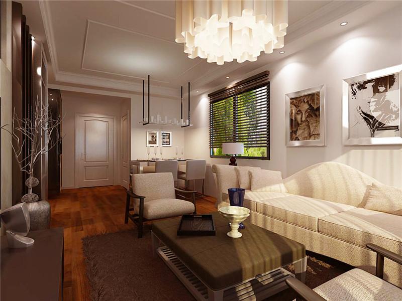 海信湖岛世家-二居室-88.00平米-客厅装修效果图-45款最新客厅电视背高清图片