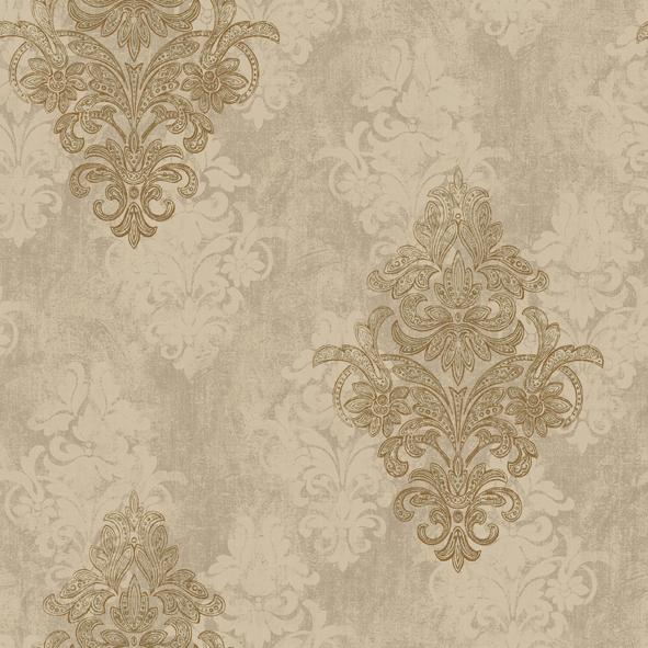 全部的奢华大气将由这款美式风格纯纸墙纸发挥的淋漓尽致,适用于客厅图片