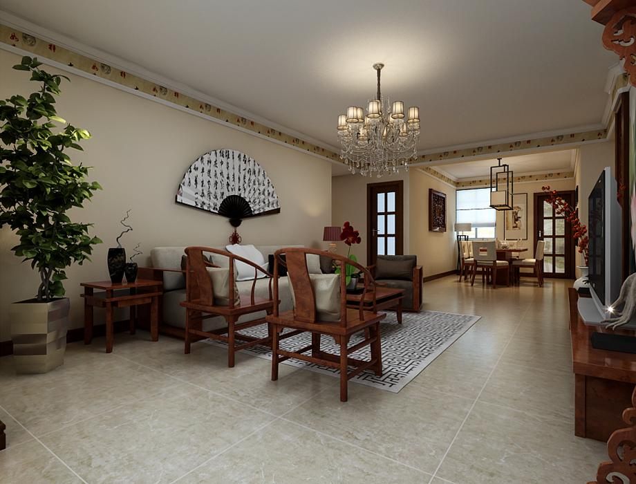 上东城-简中式-三居室-装修案例设计说明图片