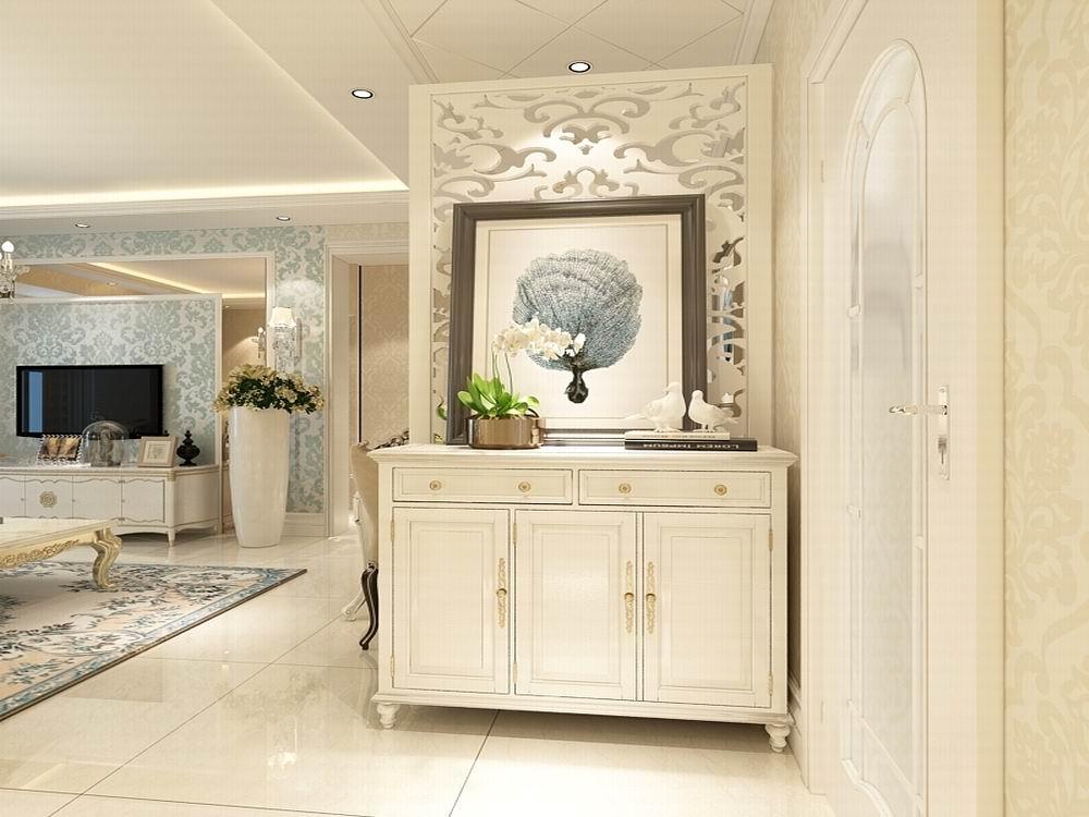 北京丰达园简欧风格二居室装修效果图_94平米4万装修图片