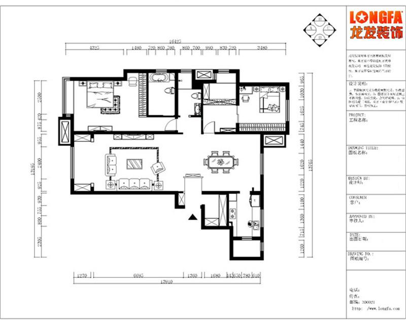 金融街融御173平米房屋平面布局图