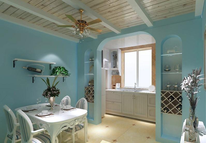 餐厅,蔚蓝色的浪漫情怀,海天一色、艳阳高照的纯美自然.