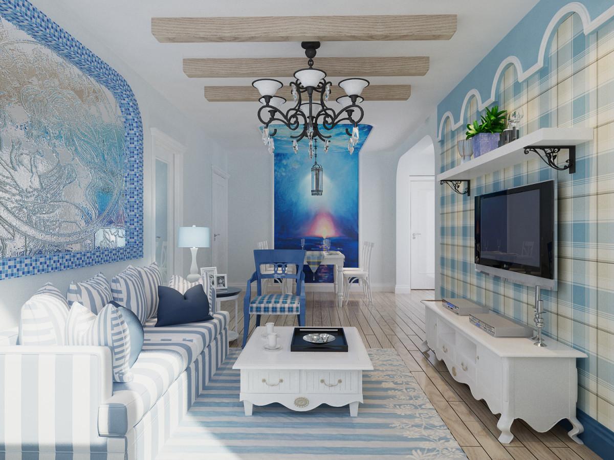 客厅,无论是材料还是色彩都与自然达到了某种共契,设计灵感基于海边轻松、舒适的生活体验.