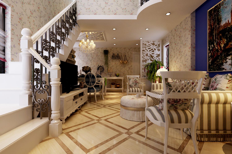 首邑溪谷-美式风格-86平米二居室图片