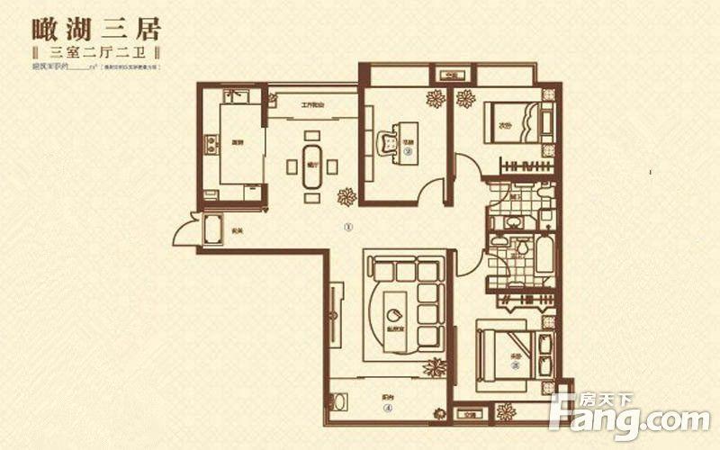 140m?,三室二厅二卫