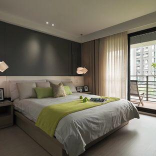 简约 明朗的卧室让人容易心静下来身心放松的入睡