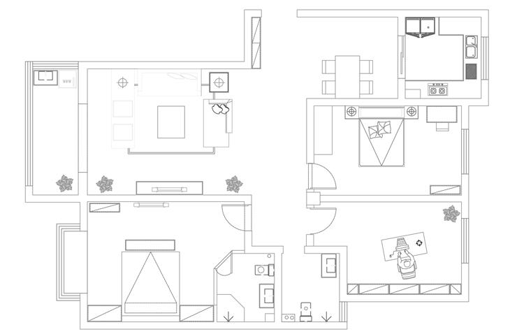 河南职业技术学院158平方三室两厅两卫户型图图片