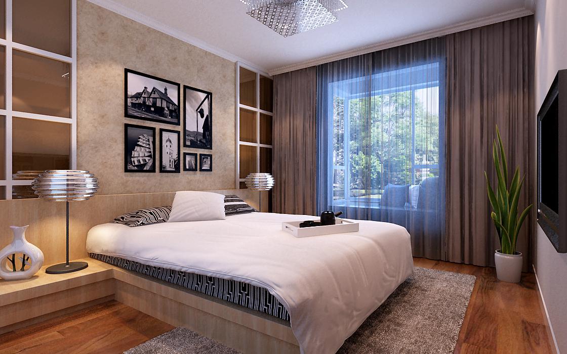 北卫家园-三居室-180.00平米-卧室装修效果图-3套刚需房80平现代简约高清图片