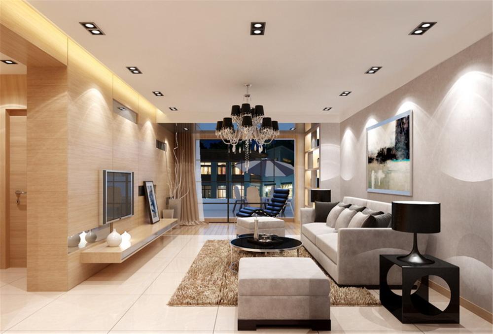 红杉公馆-二居室-90.00平米-客厅装修效果图高清图片