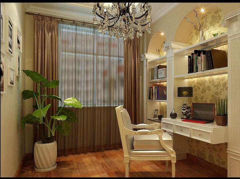 户型简单方正。客厅阳台空间很大。电视背景墙过于短小,所以对于电视墙进行材质优化,使电视墙显得大气。卫生间空间小没有放置洗衣机的位置。书房空间小。