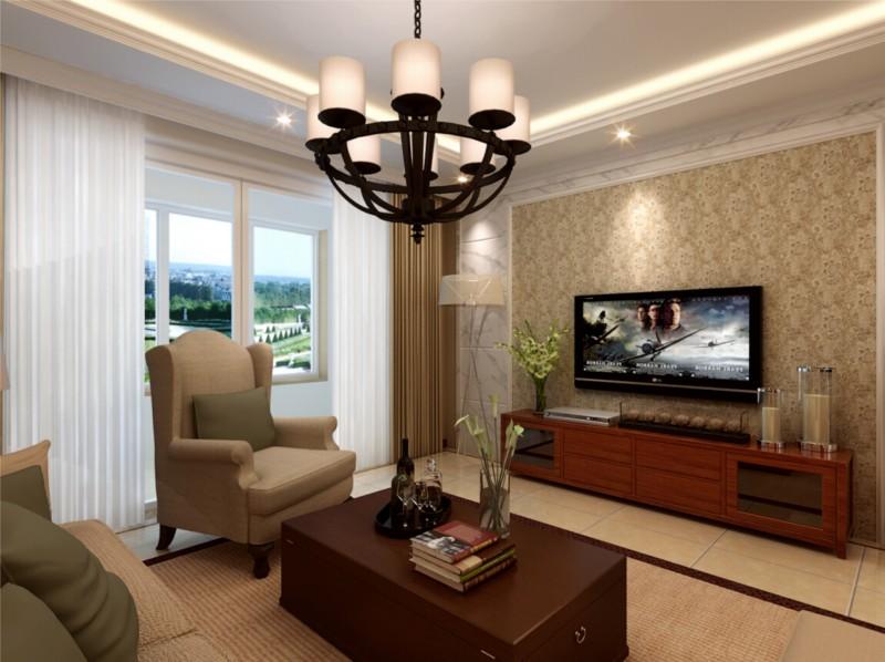 世茂十二府120平客厅装修-现代风格