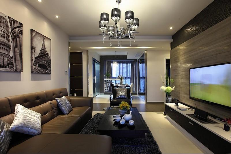 领秀慧谷-二居室-70.00平米-客厅装修效果图高清图片