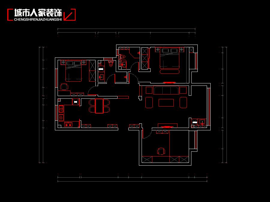 """简约中式风格非常讲究空间的层次感与跳跃感。在需要隔绝视线的地方,则使用中式的屏风、窗棂、中式木门、工艺隔断、简约化的中式""""博古架""""等。通过这种新的分隔方式,单元式住宅就展现出中式家居的层次之美。再配以"""