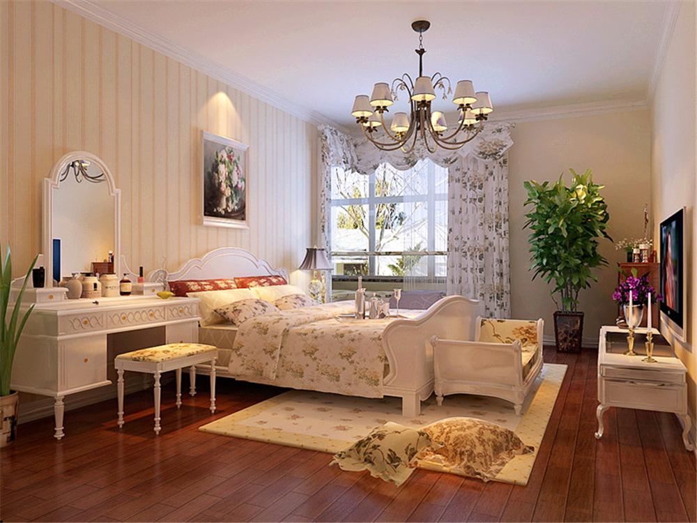 中海金石公馆-三居室-120.00平米-卧室装修效果图高清图片