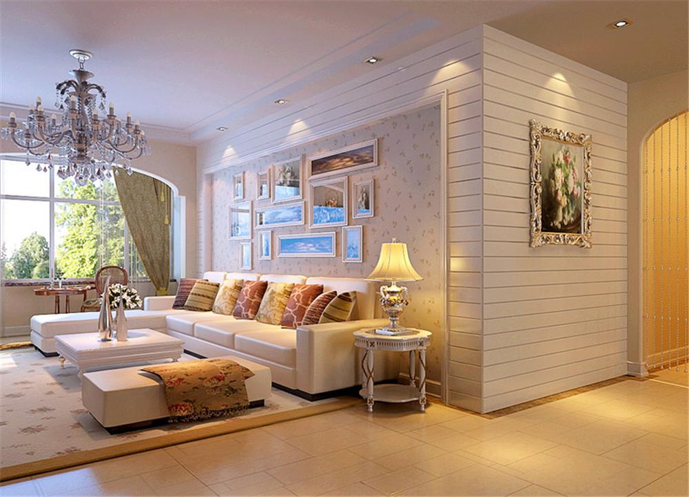 中海金石公馆-三居室-120.00平米-客厅装修效果图高清图片