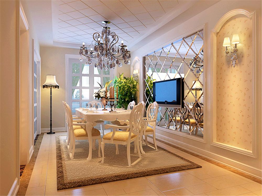 中海金石公馆-三居室-120.00平米-餐厅装修效果图高清图片