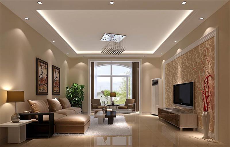 中铁十六局家属楼-三居室-117.00平米-客厅装修效果图