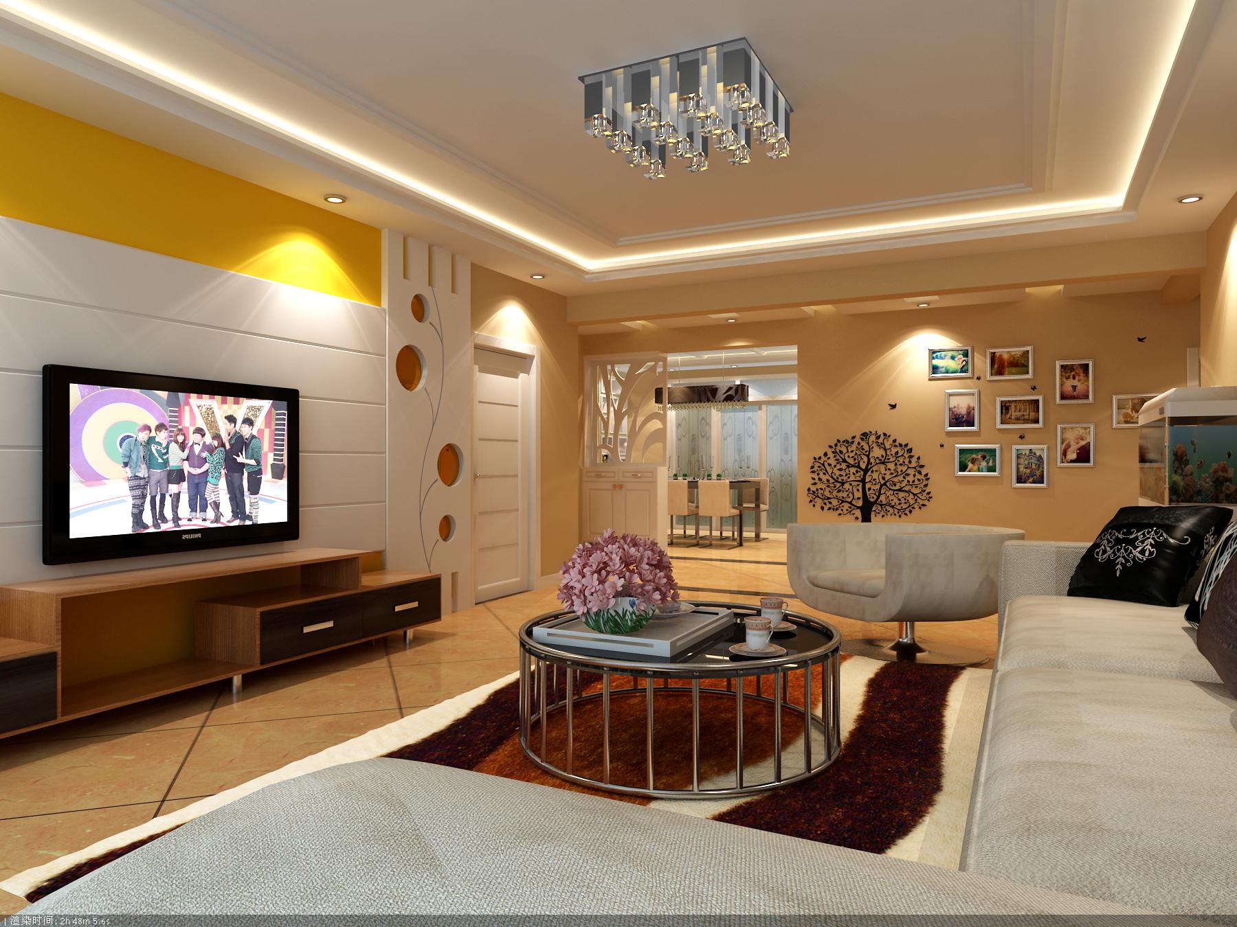 90平小三房装修效果图 6套32图不同风格6.8万搞定高清图片