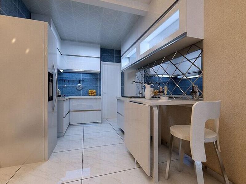 蓝湾-二居室-88.00平米-厨房装修效果图-小户型就要这么装 10万装修高清图片