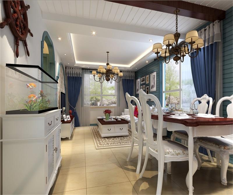 紫金新干线通州万达广场-二居室-93.00平米-餐厅装修效果图-93平二居高清图片