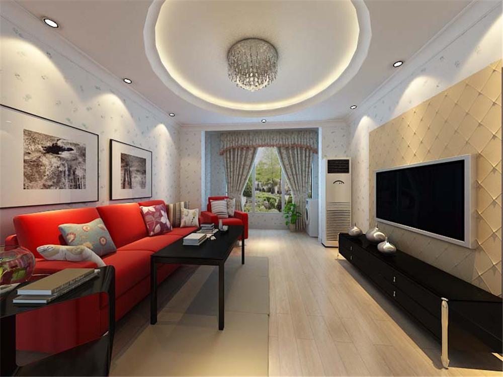 客厅采用简约的圆顶造型,书房和餐厅采用一个大回型顶的造型.