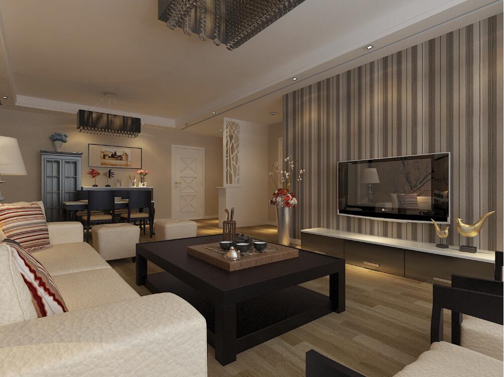中式古典三居室装修效果图130.43平米6.50万中式古典图片