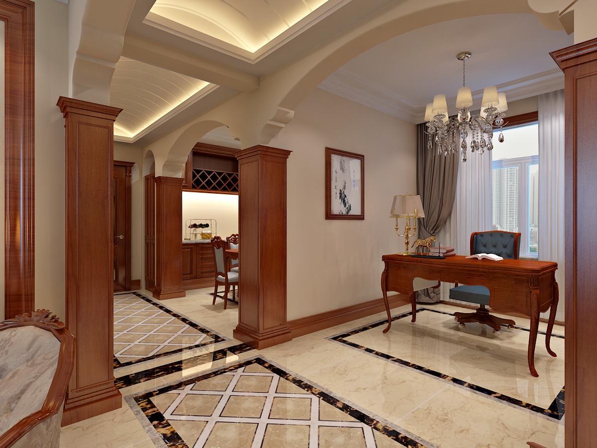 都市生活节奏极快,回到家中,慢慢的放松心情 简单的欧式情调增添别处的情; 色彩的运用也是室内设计中的画龙点睛之笔,在视觉效果上,本案的主要强调一 种稳重、大度的人文思想,白色墙面和原木本色的地板,简约不简单,清爽干净。 深色的欧式家具象征着稳重,从而体现一种华而不俗、稳重大方的设计理念。
