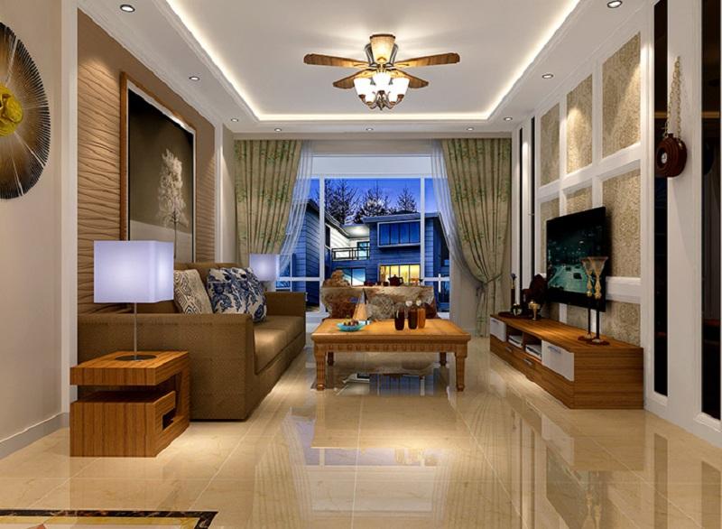 东湖湾-三居室-120.00平米-客厅装修效果图图片