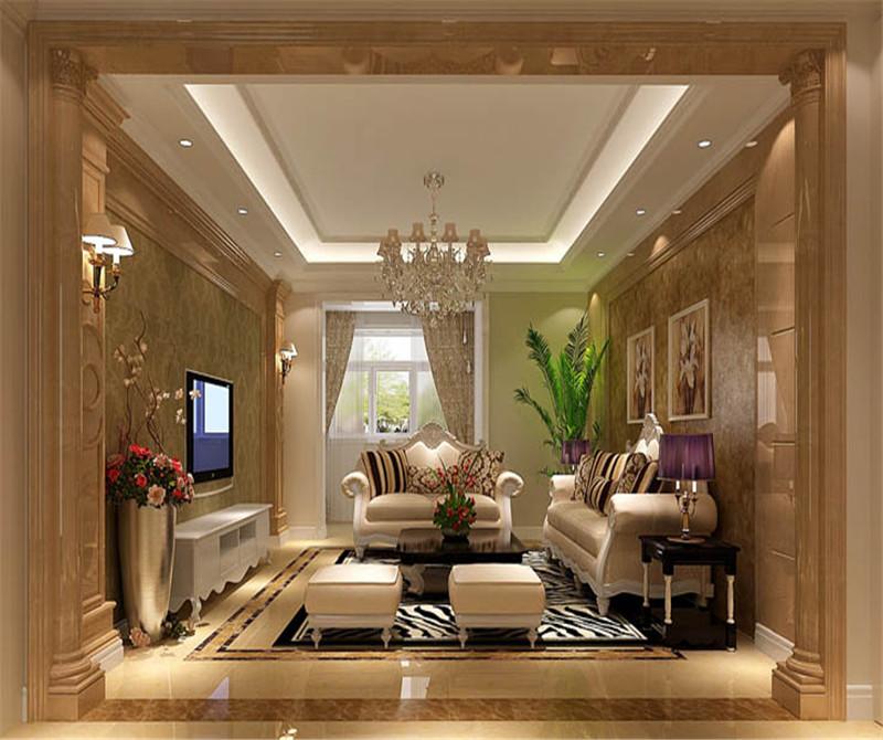 130平米三室两厅欧式装修效果图