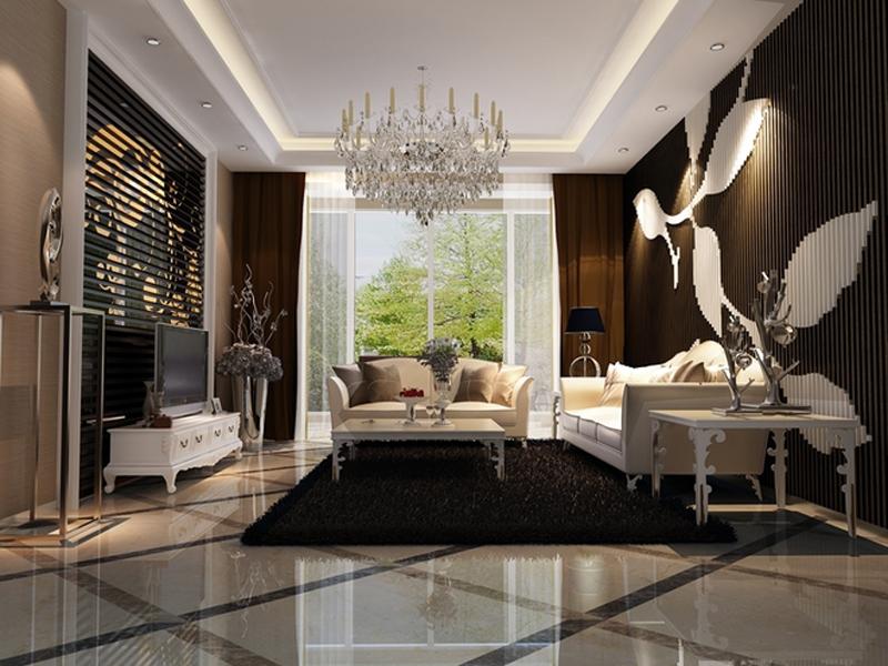 123平米三居室精美装修 现代简约全包9万!-融创中心装修