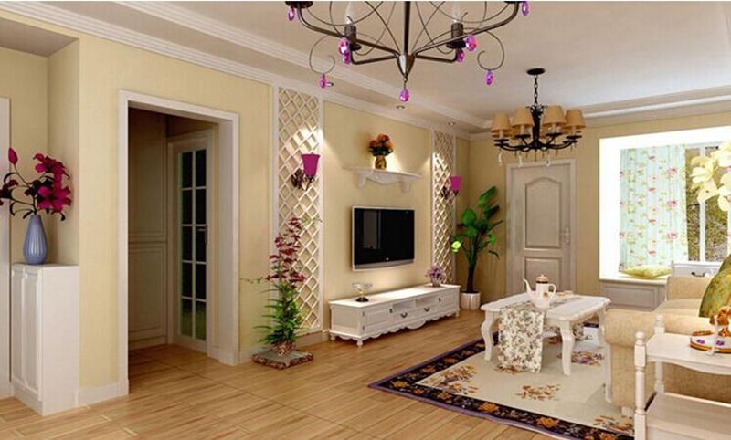 7万全包 90平欧式田园风格古典浪漫风装修设计案例图片