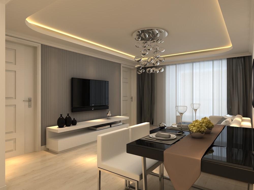 00平米-客厅装修效果图     设计理念:本案例是新中式风格是将传统的图片