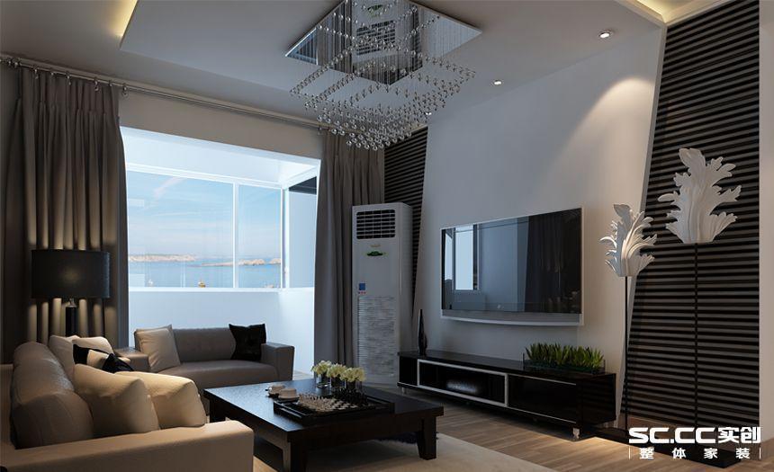 用斜切的石膏板和黑色两色交叉的背漆玻璃做出摩登的巴黎风采,简单的家具脱出简约的浪漫,温馨的地板让整体空间活泼起来