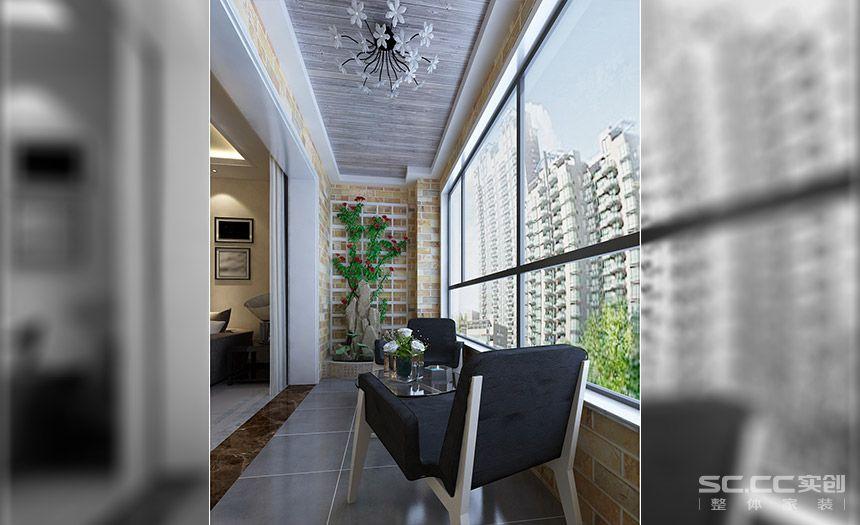 用灰色的桑拿板吊顶代表久远的时光,鲜彩的瓷砖代表曾经活泼的年代,更好的融入到一起之后让阳台更有积淀的精华