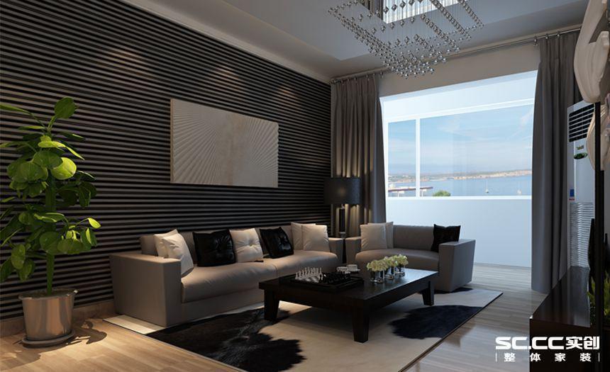 把黑白交叉的背漆玻璃铺满沙发背景墙,把摩登的时光做到完美,把客厅做成消磨时光的绝佳领地!