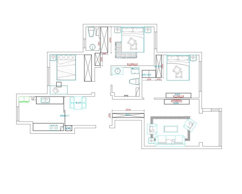 5套100平左右房子设计图 现代简约装修效果图欣赏
