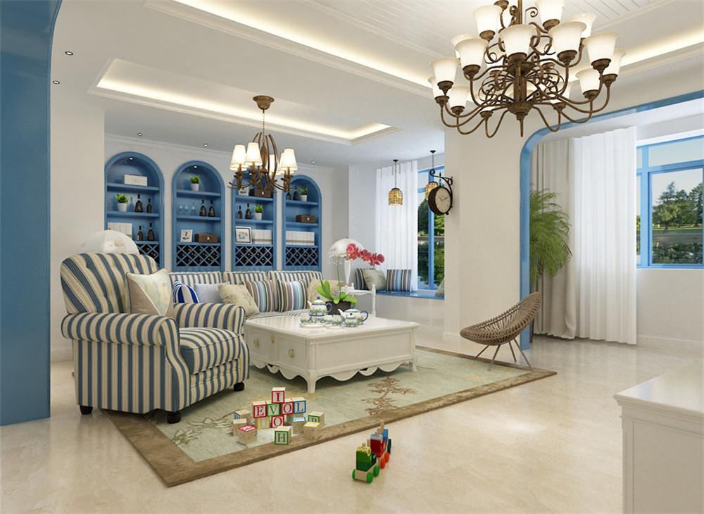 120平米三居室装修秘籍 地中海半包5万!-保利香颂湖装修