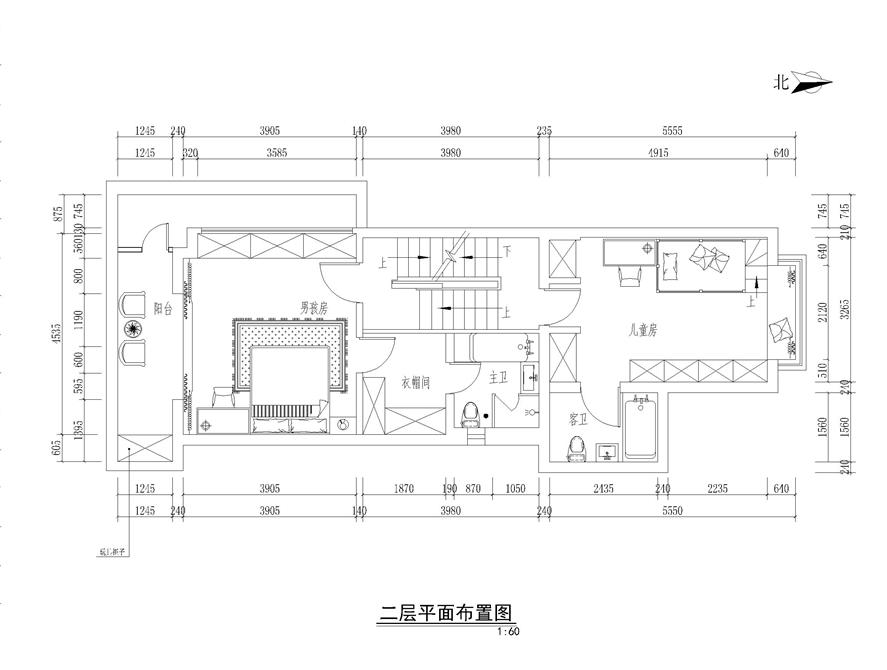 新中式风格四居室装修效果图520平米50万新中式风格四居室装修案例大全 北京装修设计 北京房天下家居装修网