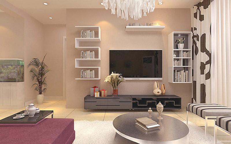 巷上嘉园-二居室-96.00平米-客厅装修效果图