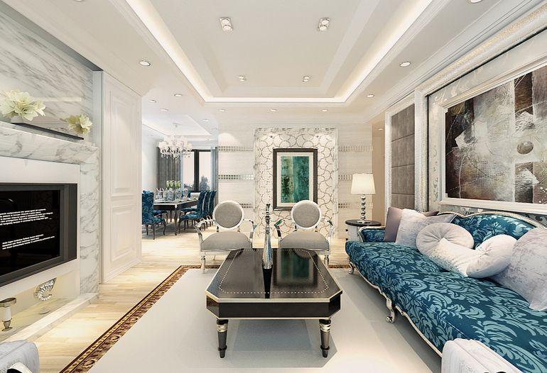 上林溪南区-二居室-98.00平米-客厅装修效果图