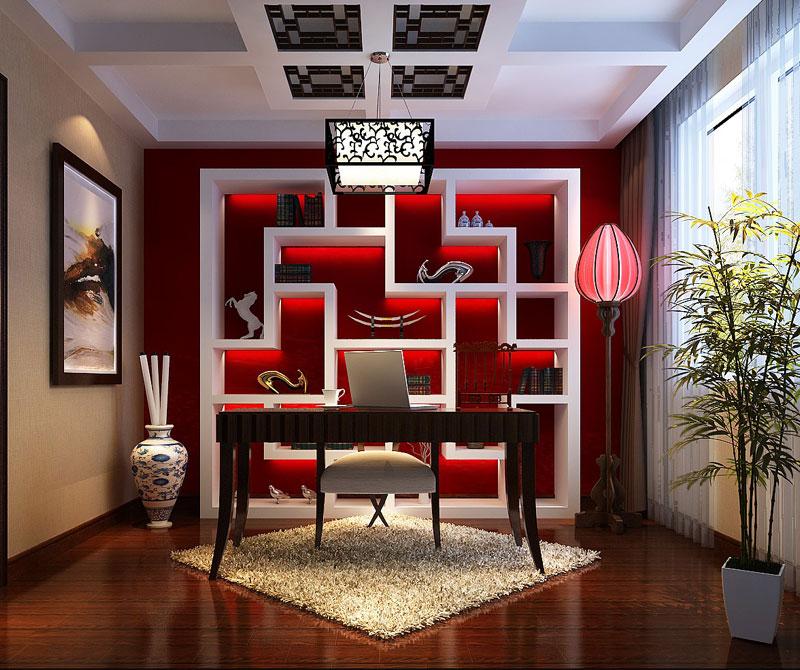 居室-106.70平米-书房装修效果图-9.9万打造110平欧式宫廷三居室 高清图片