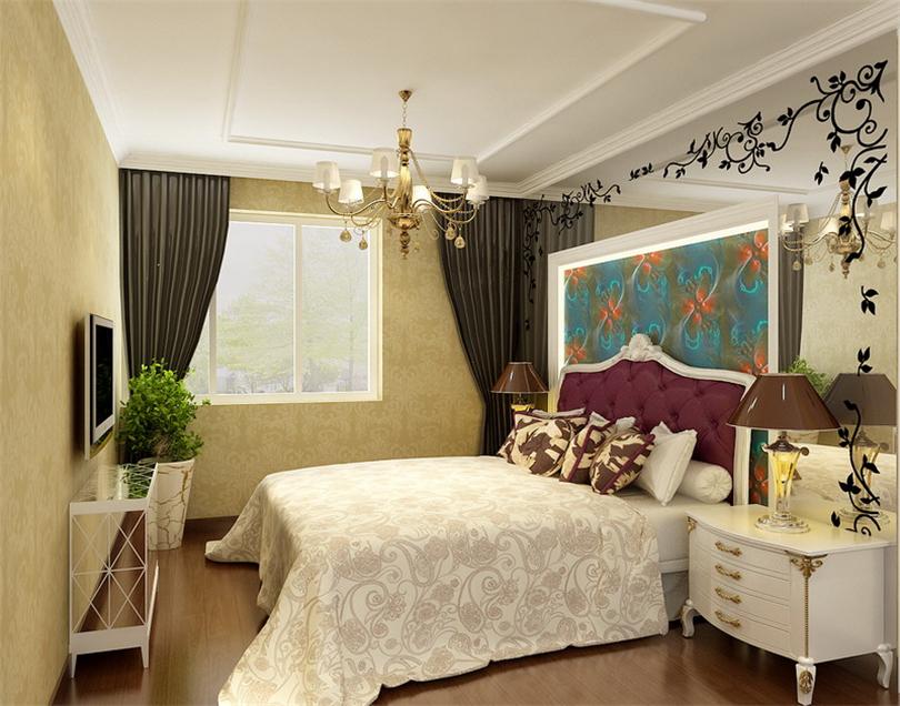 9万打造110平欧式宫廷三居室 5套三室一厅装修效果图图片