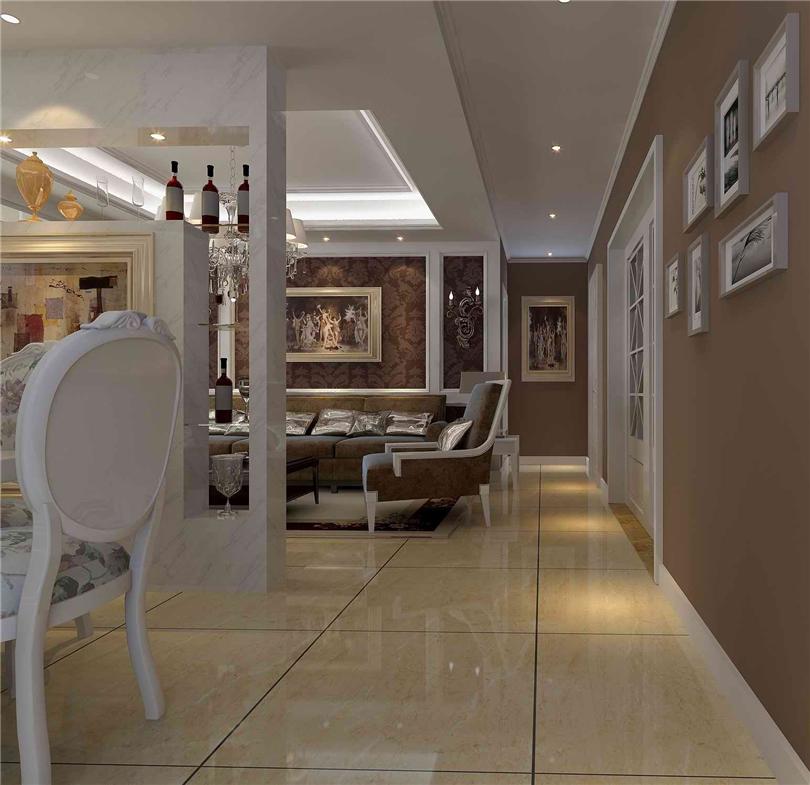 永定河孔雀城英国宫-三居室-128.00平米-客厅装修效果图